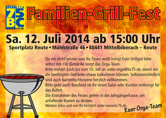 Flyer Familiengrillfest